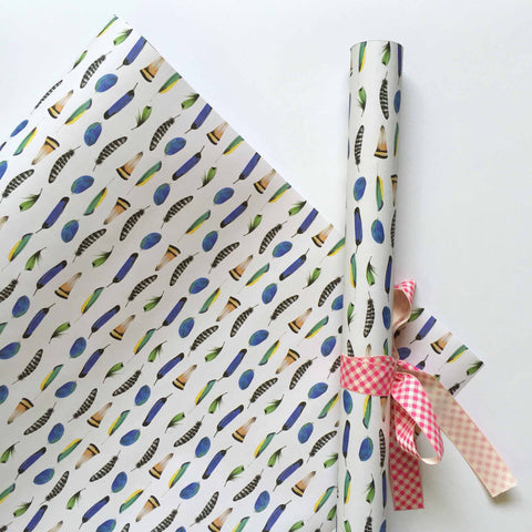 Gift Wrapping Paper - Feather