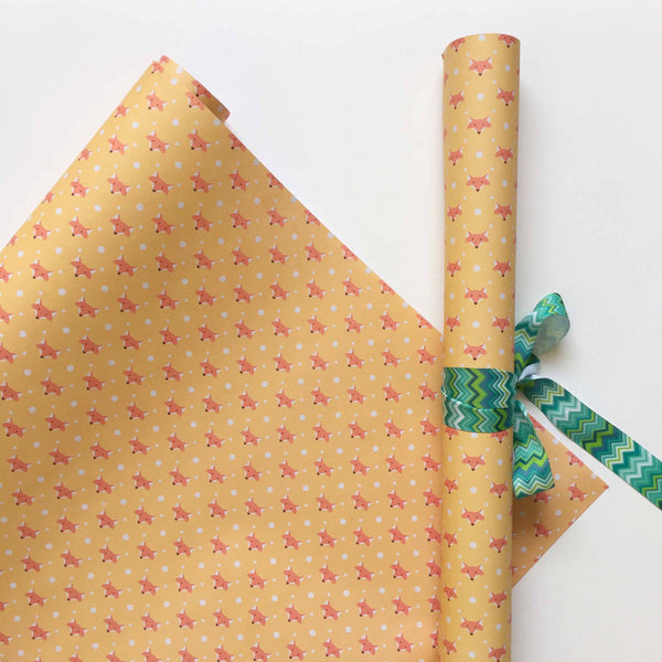 Gift Wrapping Paper - Foxset Of 4-Stationery-PropShop24.com