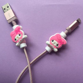 Mobile Accessories - Wire Protector Pink Cat - Set Of 2-GADGETS-PropShop24.com