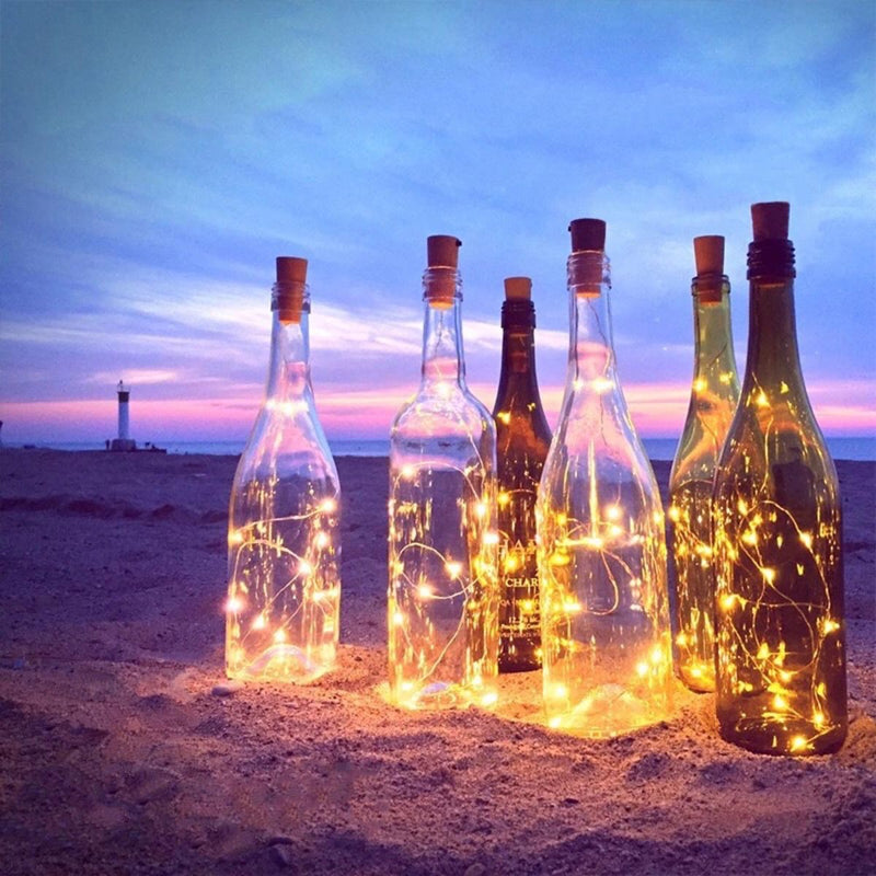 Copper Wine Cork LED String Lights - Warm White - Pack of 6-HOME ACCESSORIES-PropShop24.com