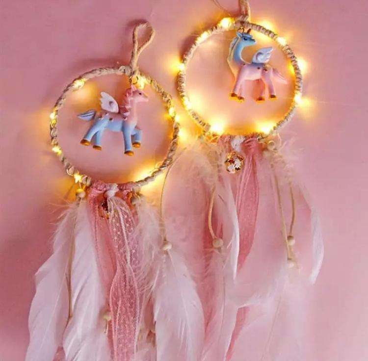 Unicorn Dreamcatcher With LED-HOME ACCESSORIES-PropShop24.com