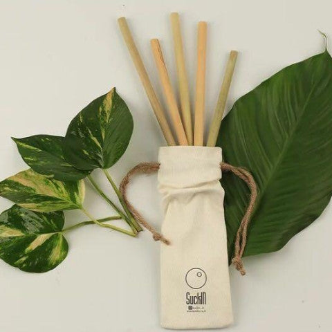 Bamboo Straws- Packet of 9-HOME-PropShop24.com