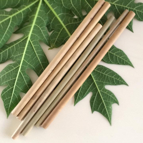 Bamboo Straws- Packet Of 15-BAR + PARTY-PropShop24.com