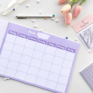 Planner-Undated Monthly Planner Pad - 48 Tear Off Sheets - A4 Size-NOTEBOOKS + JOURNALS-PropShop24.com