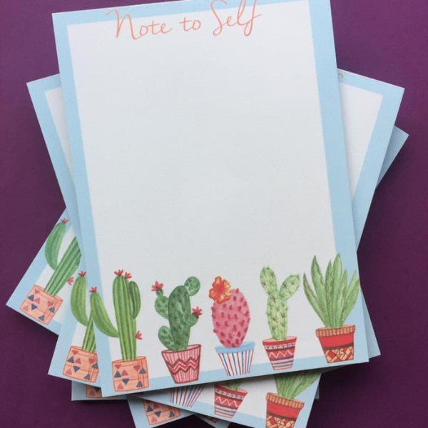 Notepad - Note To Self Cacti Print-Stationery-PropShop24.com
