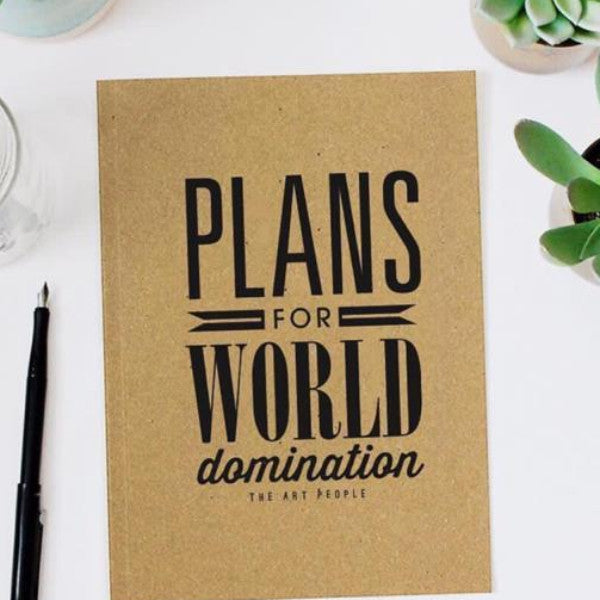 Notebook - World Domination- Blank Pages-Stationery-PropShop24.com