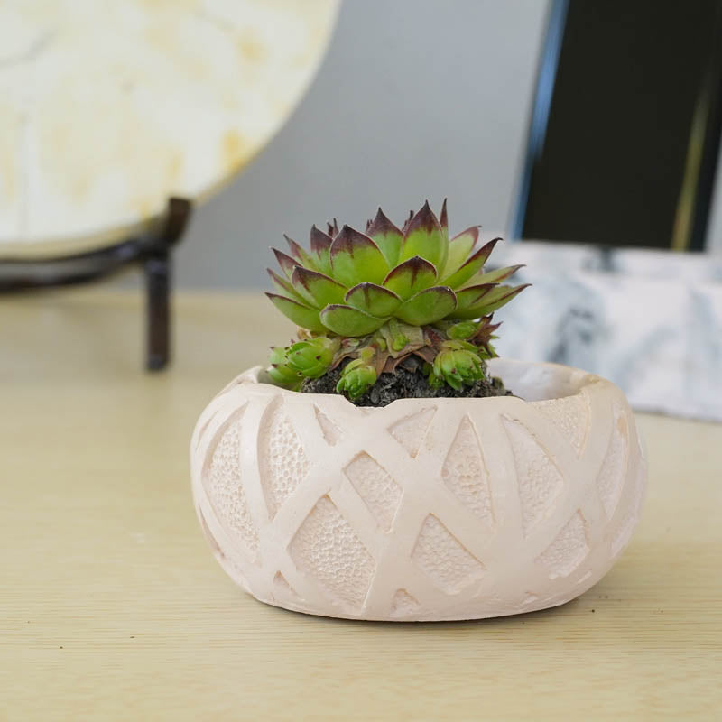 Concrete Ribbon Planter-HOME ACCESSORIES-PropShop24.com