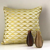 Cushion Cover - Yellow Triangle Jacquard-HOME-PropShop24.com
