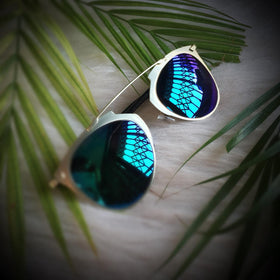 Sunglasses - Golden Bridge - Turquoise Lens-FASHION-PropShop24.com