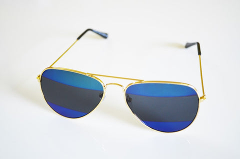 Sunglasses - Roma Shaded Blue Aviators-Fashion-PropShop24.com