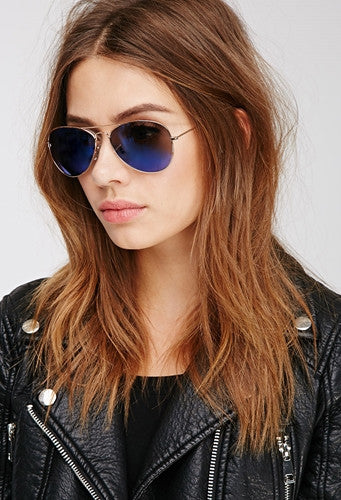 Sunglasses - Capri Shaded Blue Aviators-Fashion-PropShop24.com