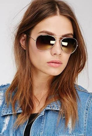 Sunglasses - Capri Shaded Brown Aviators-Fashion-PropShop24.com