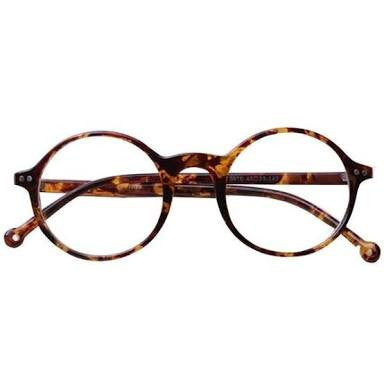 Spectacles - Animal Print Round Anti Reflector