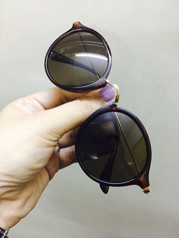 Sunglasses - Brown Vintage Rounders-Fashion-PropShop24.com