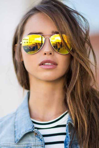 Sunglasses - Capri - Yellow Gold