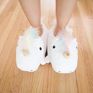 Unicorn - Slippers - White-HOME ACCESSORIES-PropShop24.com