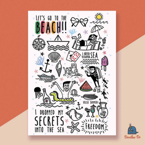 Let's go to the beach diary-Stationery-PropShop24.com