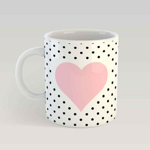 Coffee Mug - Polka Dotted Love-DINING + KITCHEN-PropShop24.com