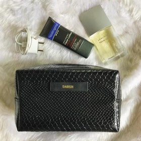 Personalized Croco Black Travel Kit- C.O.D Not Available-FASHION-PropShop24.com