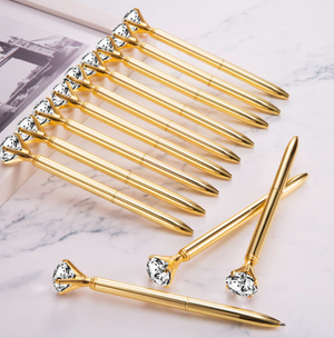 Gold Diamond Pen-PENS + PENCILS + PAPER CLIPS-PropShop24.com