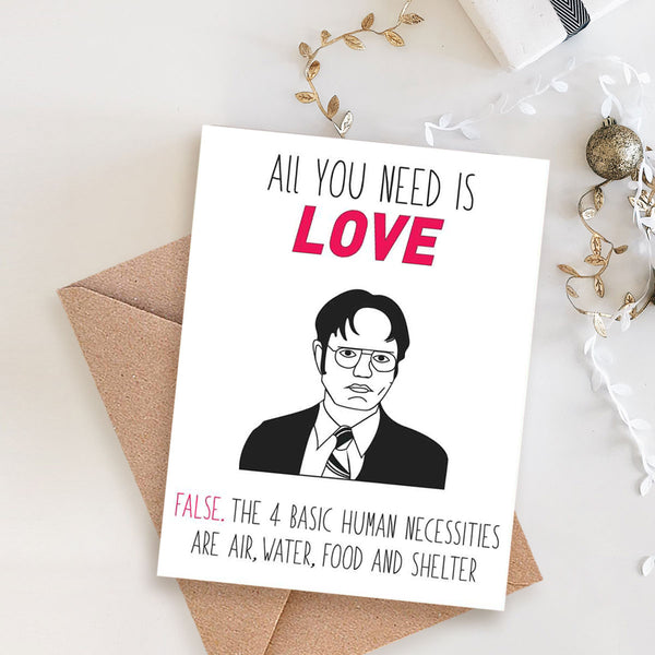 Greeting Card - Love Dwight-STATIONERY-PropShop24.com