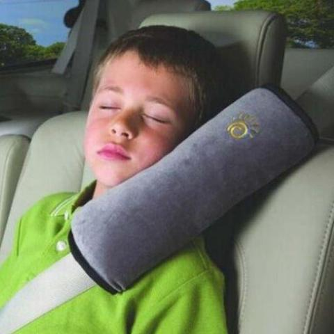 Car Headrest Pillow - Grey-TRAVEL ESSENTIALS-PropShop24.com