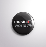BADGE - Music - On, World - Off-HOME-PropShop24.com
