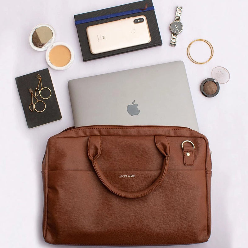 Premium Vegan Leather Laptop Bag-WOMEN-PropShop24.com