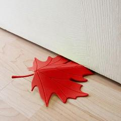 Leaf Door Stopper Red-HOME ACCESSORIES-PropShop24.com