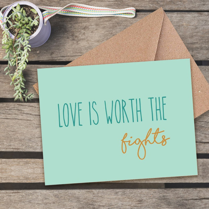 Greeting Card - Love Is Worth The Fights-GREETING CARDS-PropShop24.com