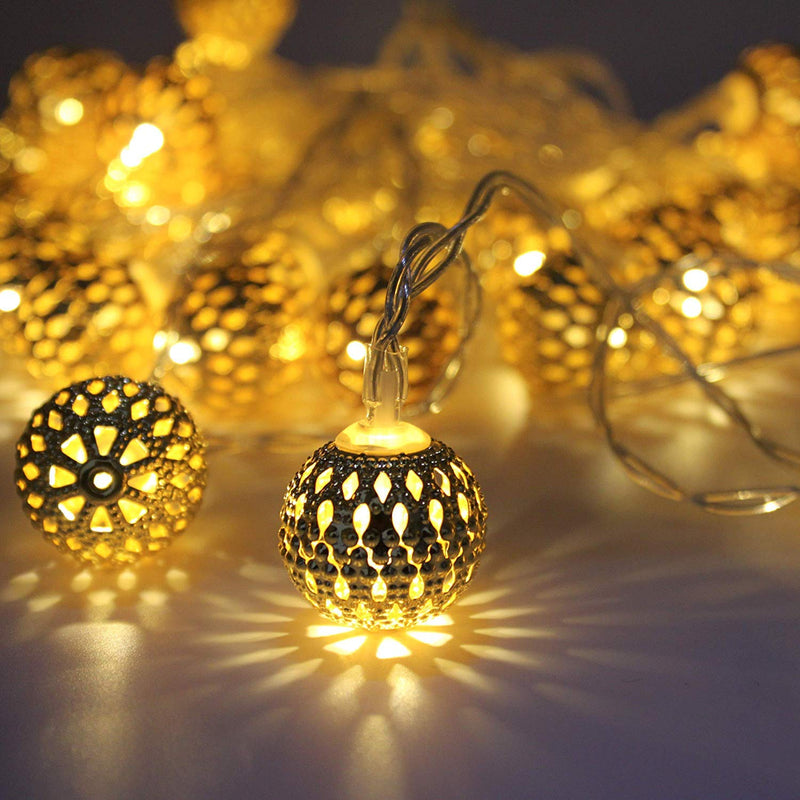 Round Metal String Lights-HOME ACCESSORIES-PropShop24.com