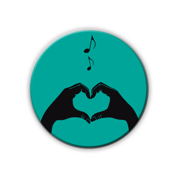 Badge/Magnet - Music Love-HOME-PropShop24.com