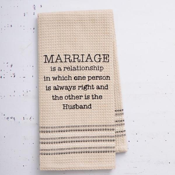 Marriage Dish Towel - Set Of 2-DINING + KITCHEN-PropShop24.com