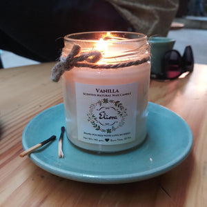Vanilla Scented Natural Wax Candle-CANDLES + AROMA-PropShop24.com
