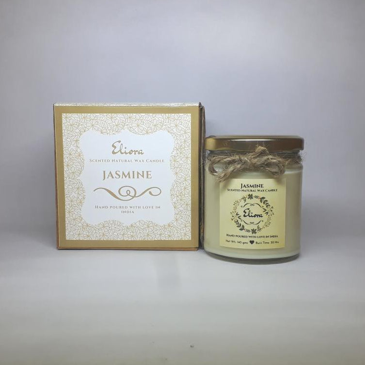 Jasmine Scented Natural Wax Candle-CANDLES + AROMA-PropShop24.com