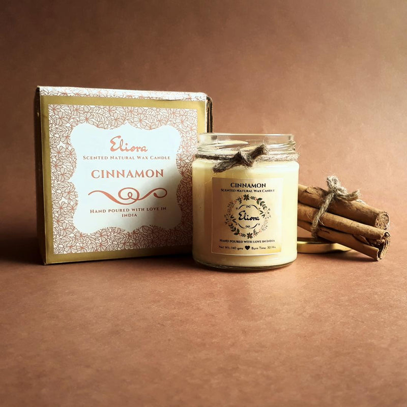 Cinnamon Scented Natural Wax Candle-CANDLES + AROMA-PropShop24.com