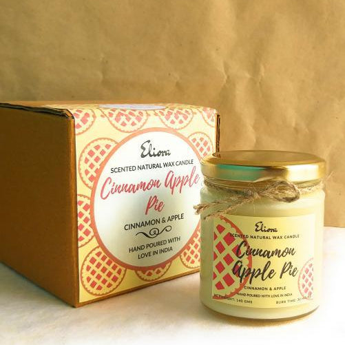 Cinnamon Apple Pie Scented Natural Wax Candle-CANDLES + AROMA-PropShop24.com