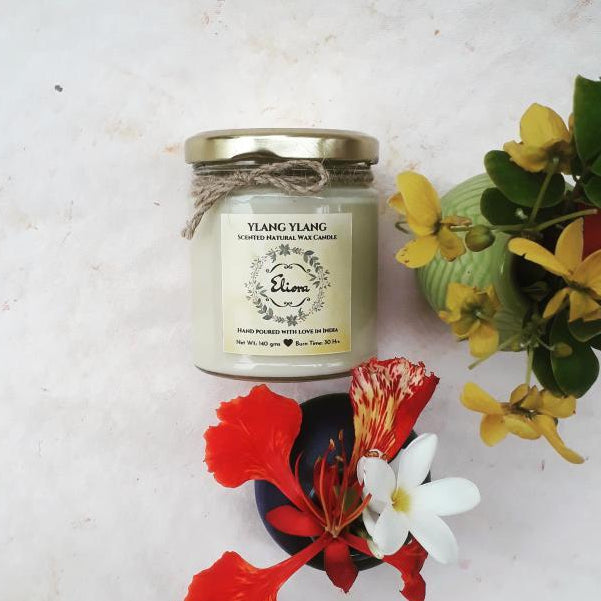 Ylang Ylang Scented Natural Wax Candle-CANDLES + AROMA-PropShop24.com