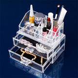 Acrylic Cosmetic Organizer - Double Drawer-HOME-PropShop24.com