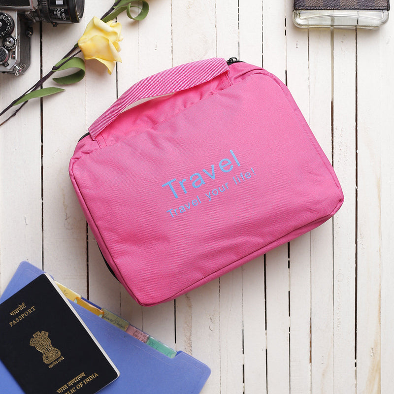 Multipurpose Travel Pouch - Pink-TRAVEL ESSENTIALS-PropShop24.com