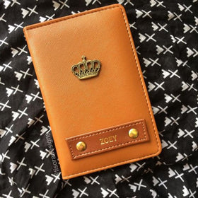 Personalized - Passport Cover - Tan Brown - C.O.D NOT AVAILABLE-FASHION-PropShop24.com