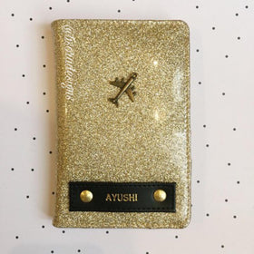 Personalized - Passport Cover - No Shade Gold Glitter - C.O.D NOT AVAILABLE-FASHION-PropShop24.com
