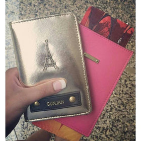 Personalized - Passport Cover - Metallic Gold - C.O.D NOT AVAILABLE-FASHION-PropShop24.com