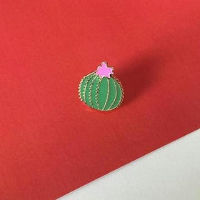 Enamel Pin - Pricky Little Cactus Lapel Pin in Pink and Green-FASHION-PropShop24.com