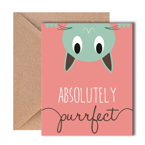 Greeting Card - Absolutely Purrfect - propshop-24