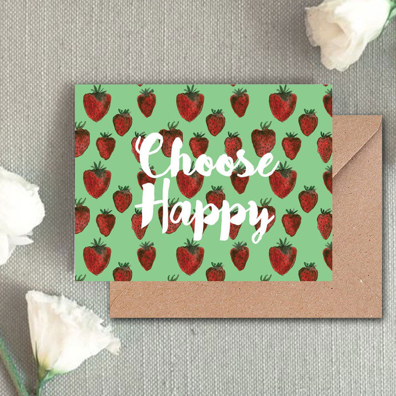 Greeting Card - Strawberry-GREETING CARDS-PropShop24.com