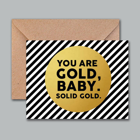 Greeting Card - Gold baby - propshop-24