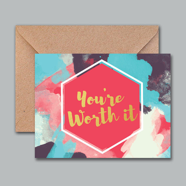 Greeting Card - You'Re Worth It-Stationery-PropShop24.com
