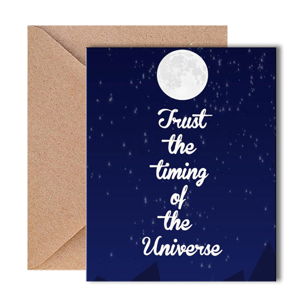 Greeting Card - Trust The Timning - propshop-24