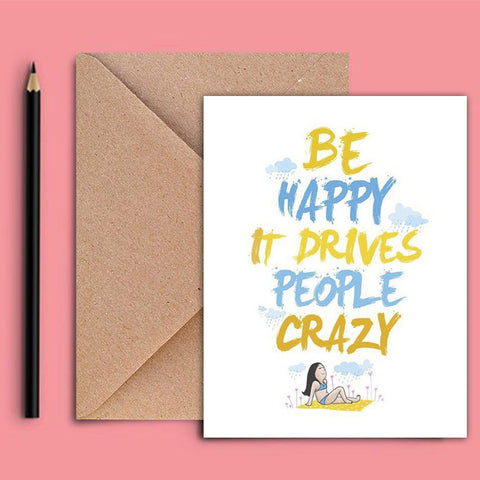 Greeting Card - Be Happy - propshop-24